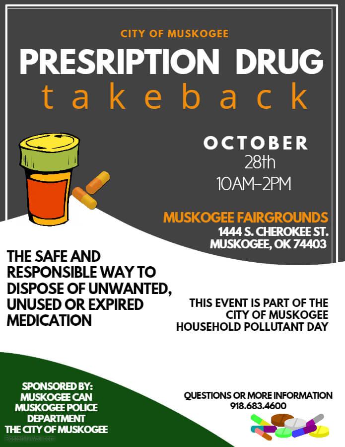 drug brochure template - prescription drug take back disposal event muskogee