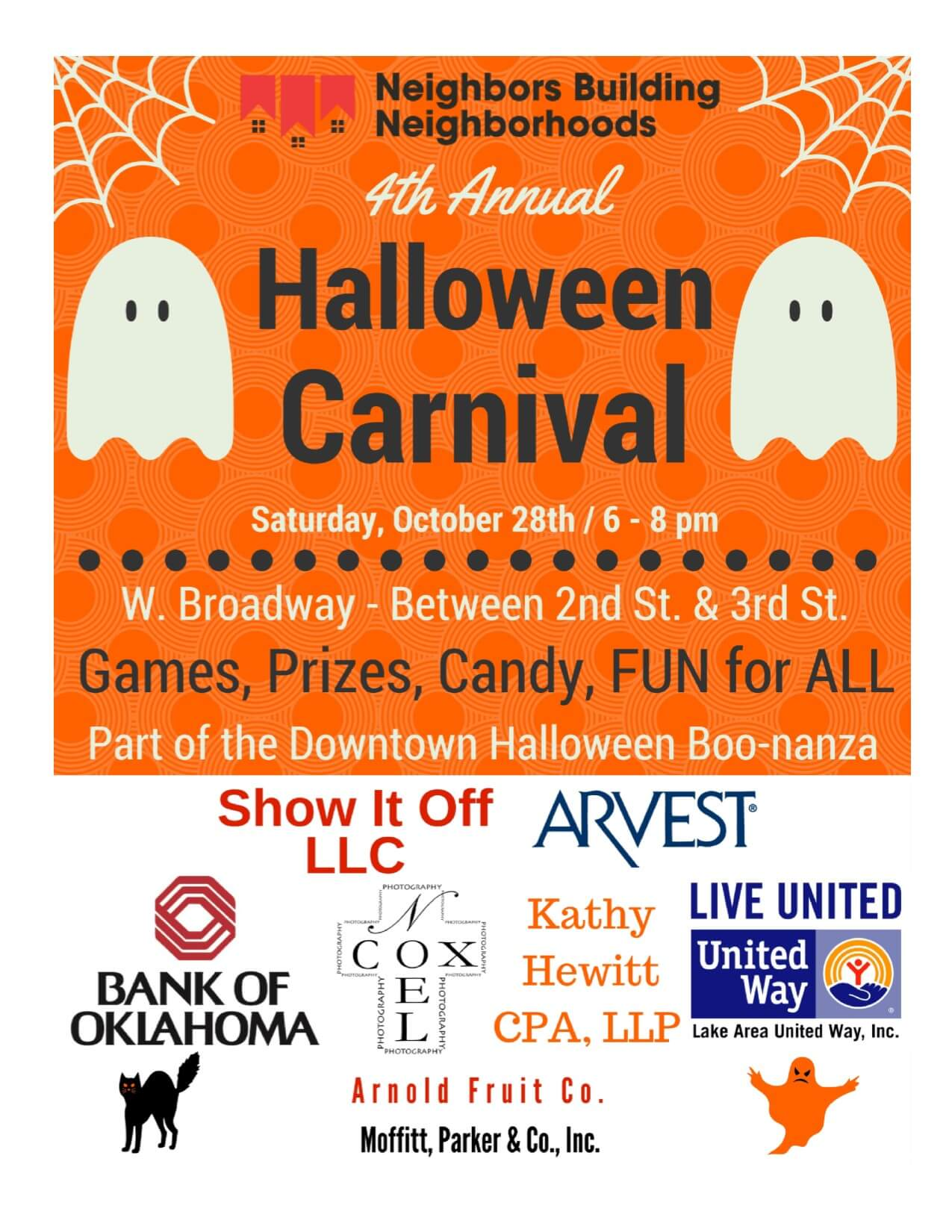 nbn halloween carnival @ boo-nanza | muskogee chamber of commerce