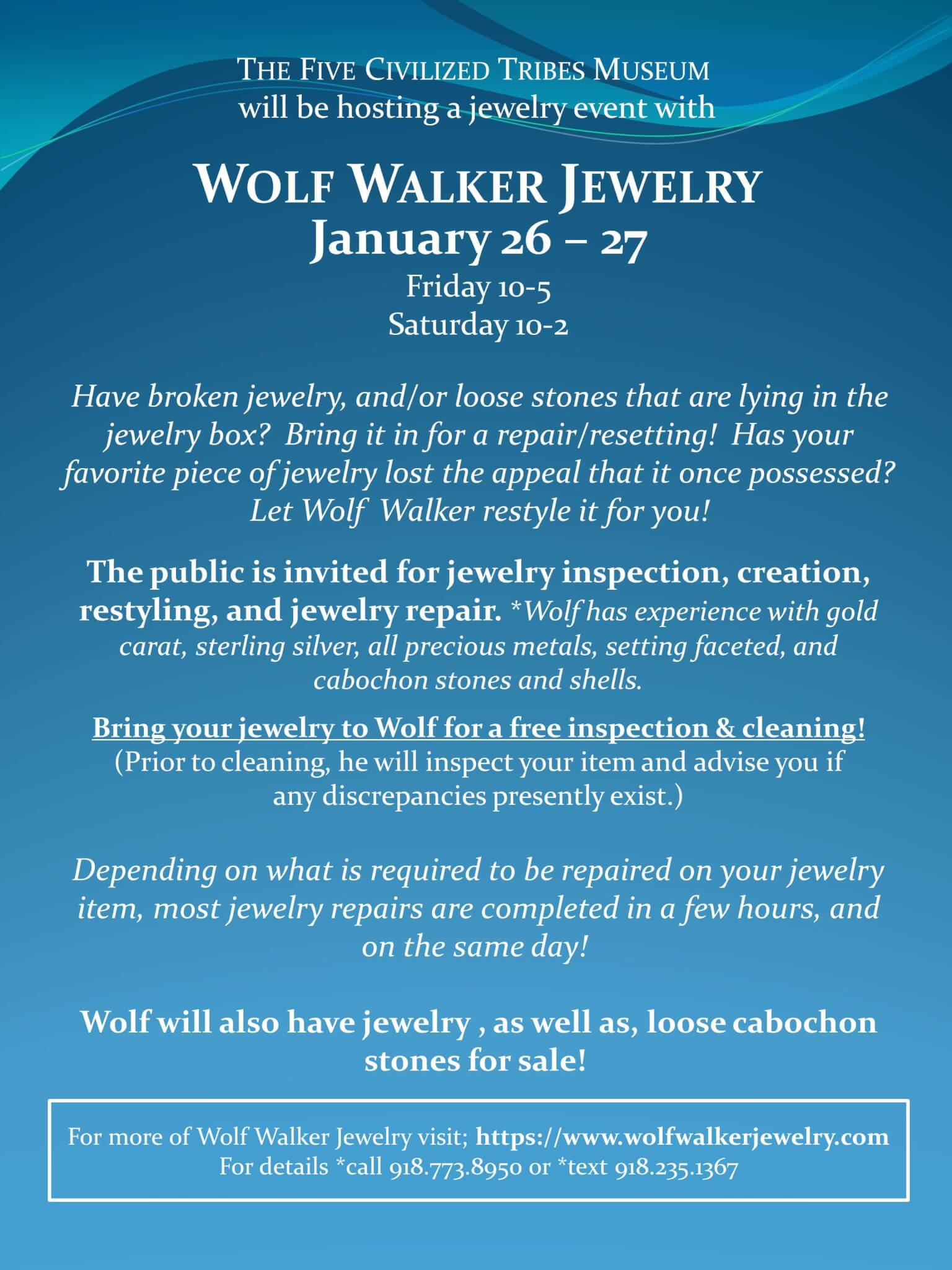 Wolf Walker Jewelry Event Muskogee Chamber Of Commerce