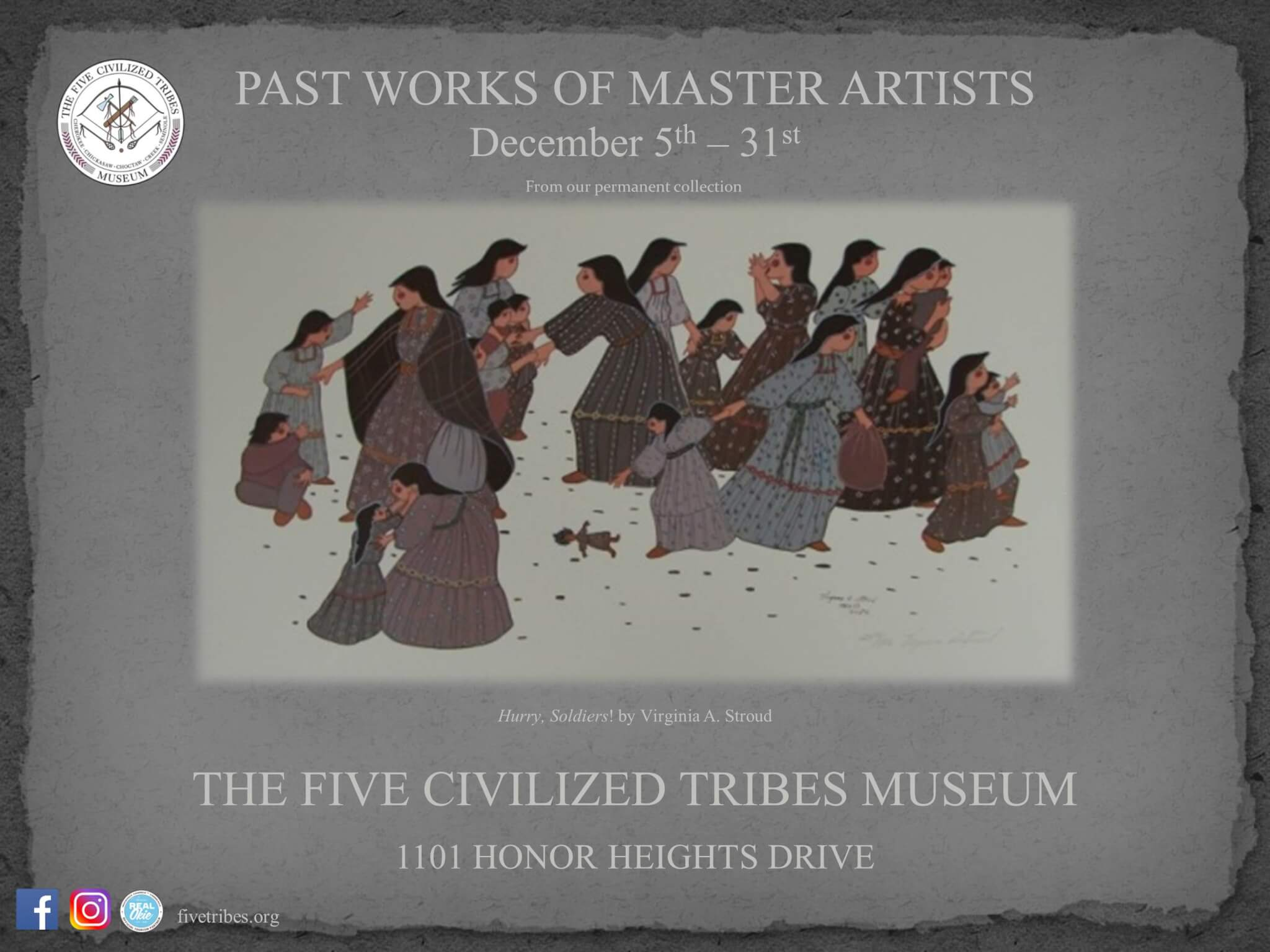 As Part Of The Museums Mission Statement Of Preserving The History Culture And Art Of The Five Civilized Tribes The Past Works Of Master Artists