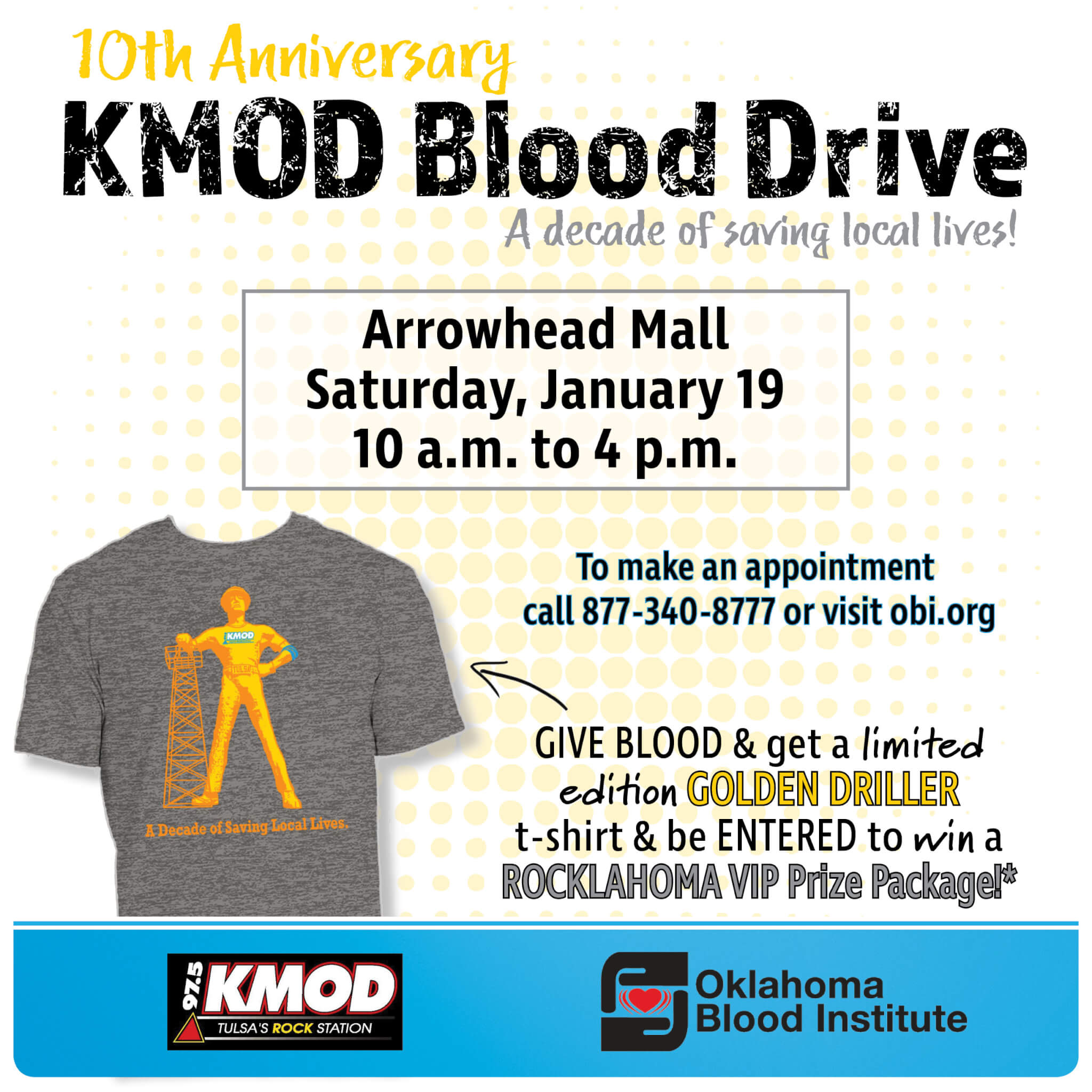 10th Annual Kmod Obi Blood Drive Muskogee Chamber Of Commerce